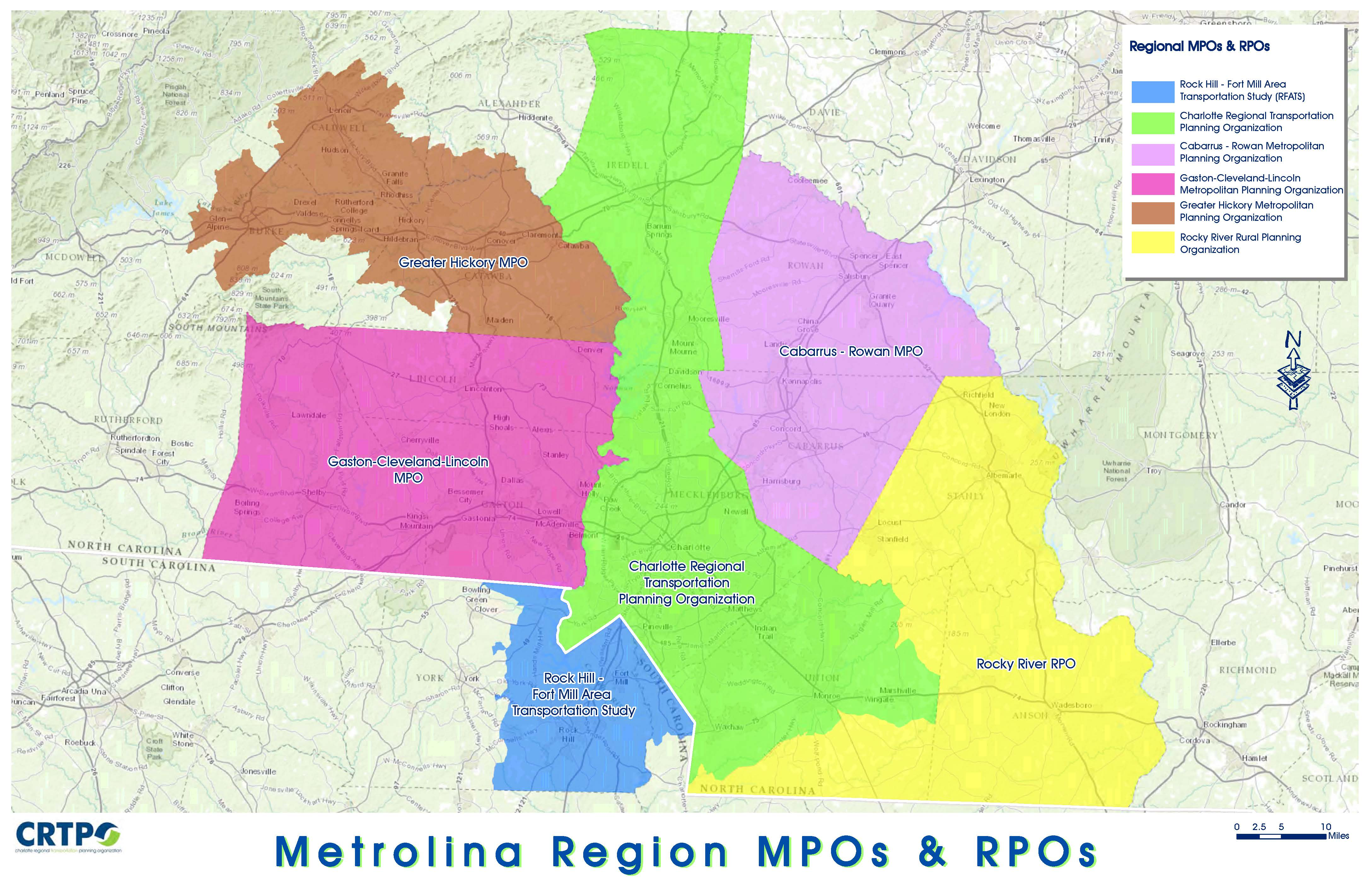Greater Charlotte MPOs / RPOs